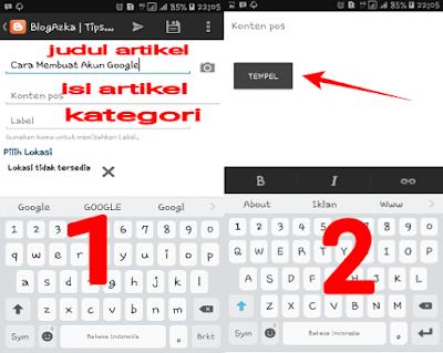 Menyalin artikel di aplikasi xplore