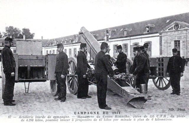 Canon Rimailho de 155 Court à Tir Rapide (155 C.T.R.)