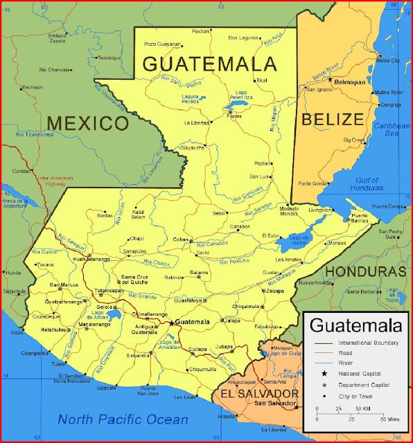 Gambar Peta Guatemala