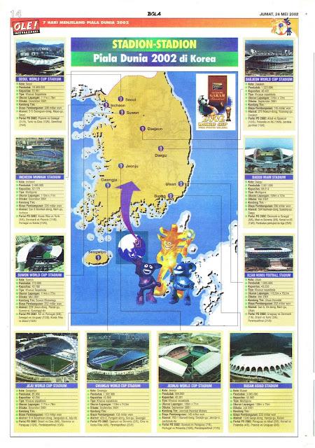 STADION-STADION PIALA DUNIA 2002 DI KOREA