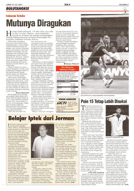BADMINTON INDONESIA OPEN 2001