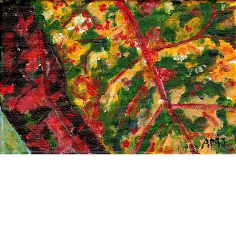 """Croton leaf 2- 5""""x7"""" Art Card"""