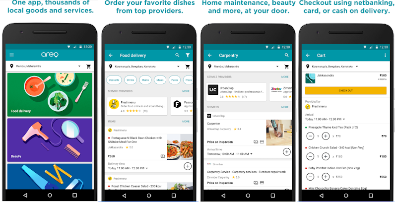 Google Launches AERO App For Food Delivery And Home Services