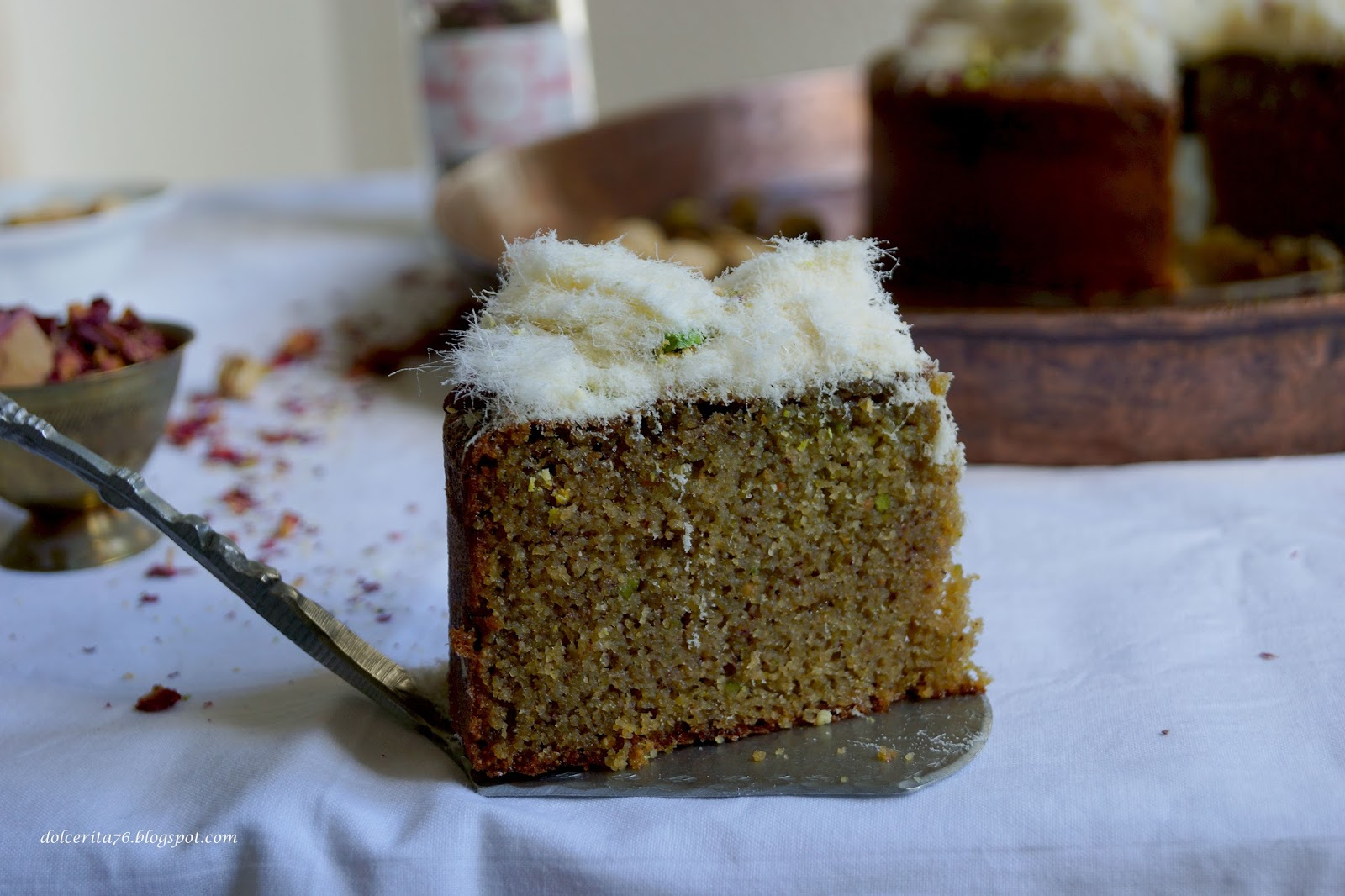Dolce Rita: Semolina, Pistachio and Rose Water Cake