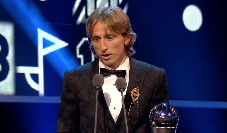 Luka Modric eletto miglior giocatore di calcio del 2018.