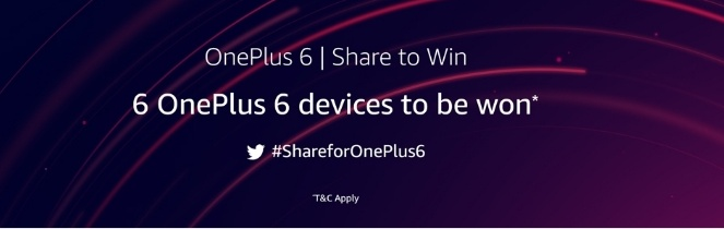 Win Free OnePlus 6 From Amazon Retweet Competition : How to Participate?