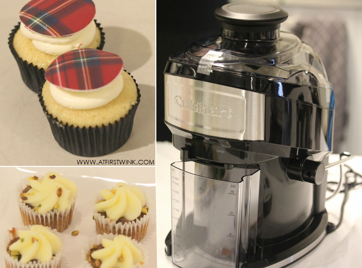 Cuisinart juicer and cupcakes