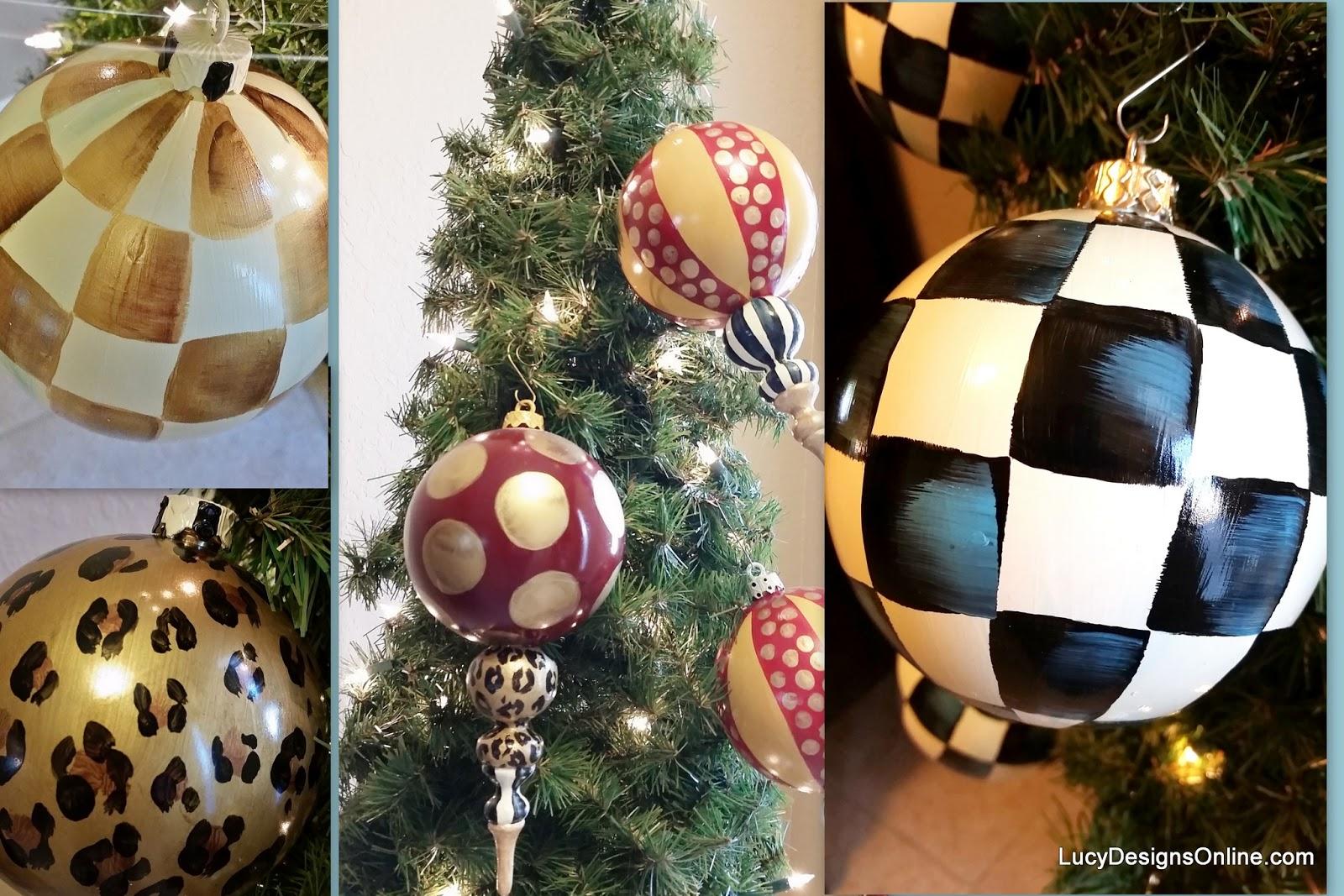 check Christmas ornaments finial ornaments