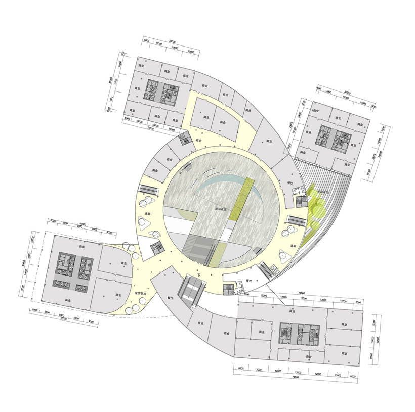 First floor plan of Impressive Fangda Business Headquarters