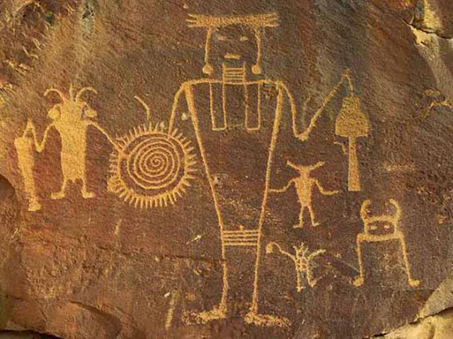 Ancient Aliens in cave paintings.