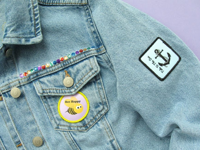 Adding custom printed patches to a denim jacket