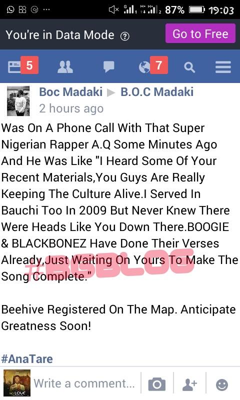WOW !! COLLABO ALERT!! BOC X AQ X BOOGIE X BLACK BONEZ