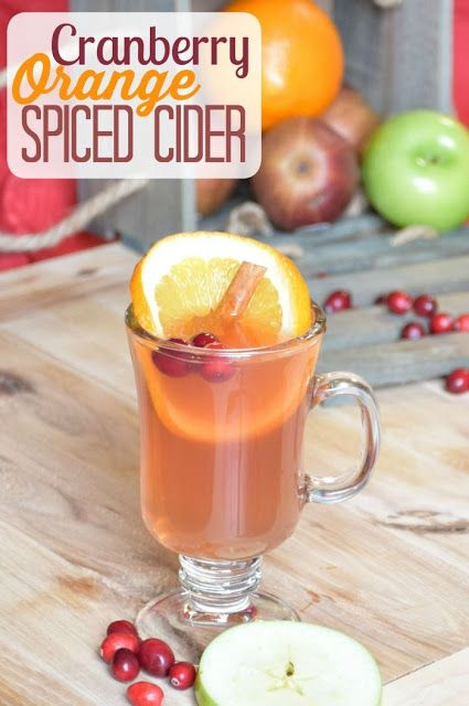 Cranberry Orange Spiced Cider Recipe