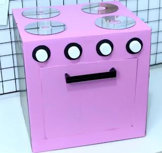 Como hacer una cocina para niños reciclando cajas