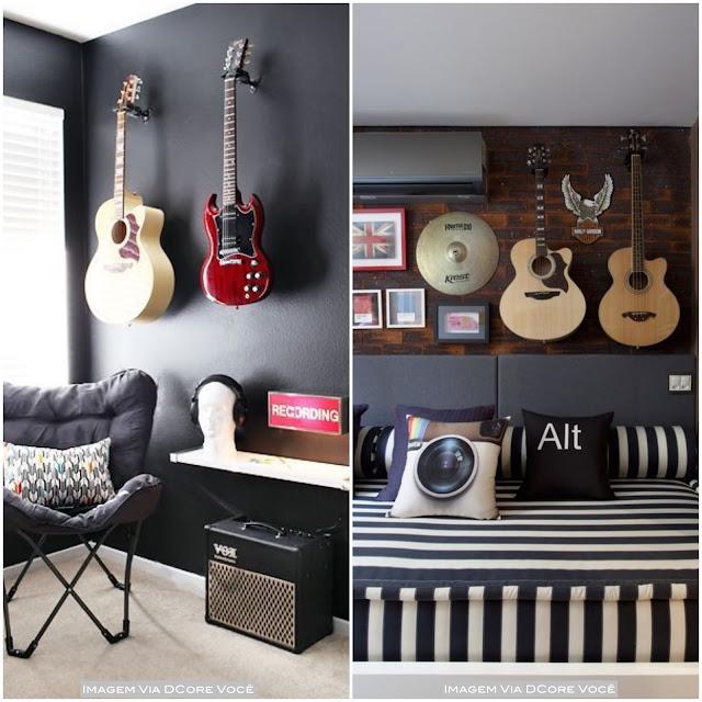 decoração para quem gosta de música