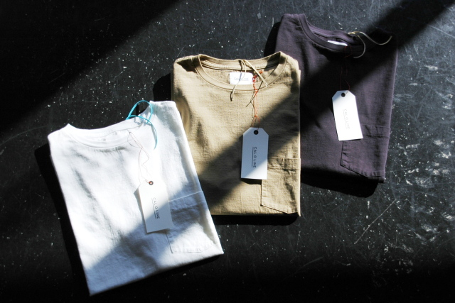 "CAL O LINE ""Solid Color S/S Pocket T-Shirt"" 6,912yen"