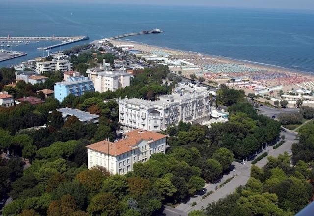 Vista de parte da cidade de Rimini