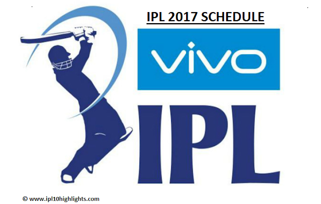 IPL Schedule 2017 Time Table, Fixtures PDF Download Image
