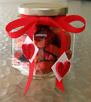 Quilled Hearts on Candy Jar