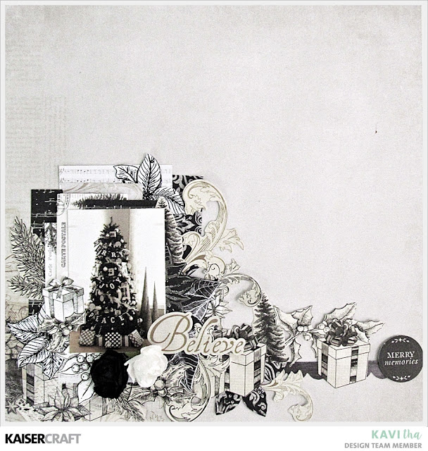 Kaiser Craft Christmas Scrapbook Layouts