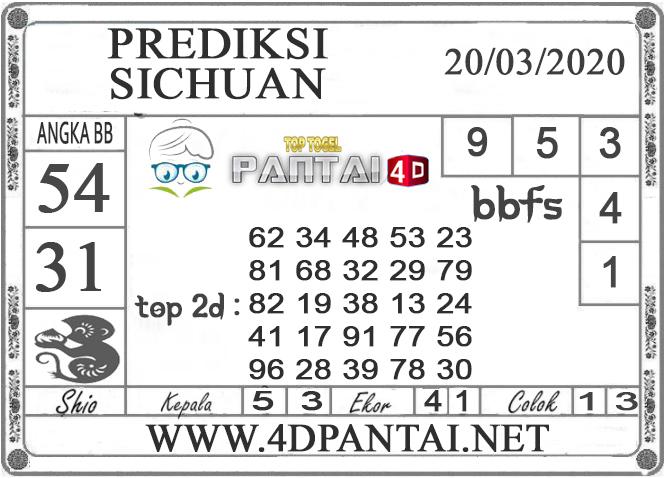 PREDIKSI TOGEL SICHUAN PANTAI4D 20 MARET 2020