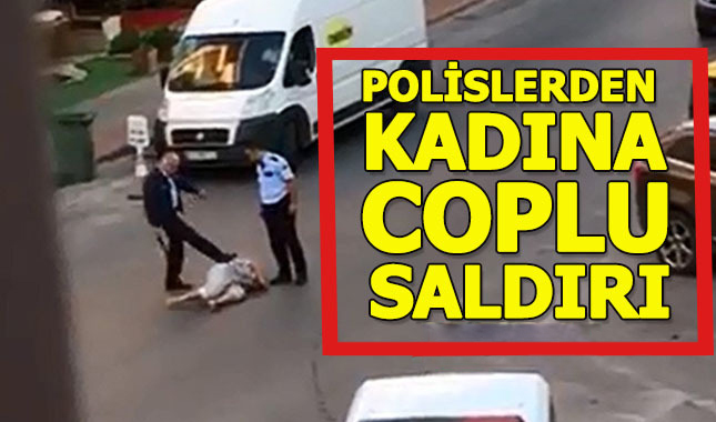 Antalyada polisler yerdeki kadını saçlarından sürükledi, tekmeledi, copla dövdü