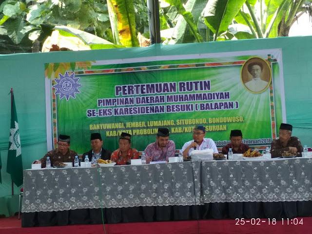 Presentasi Lazismu di forum PDM BALAPAN di Kec. Dringu Kab. Probolinggo