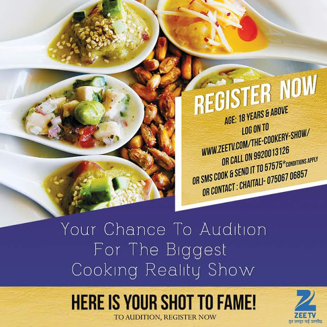 The Cookery Show Reality Show on Zee TV wiki, Contestants List, judges, starting date, The Cookery Show host, timing, promos, winner list