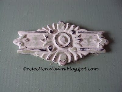 Eclectic Red Barn: Emblem from a crib