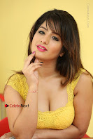 Cute Telugu Actress Shunaya Solanki High Definition Spicy Pos in Yellow Top and Skirt  0596.JPG