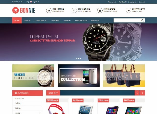 Bonnie - Multipurpose Responsive OpenCart Theme