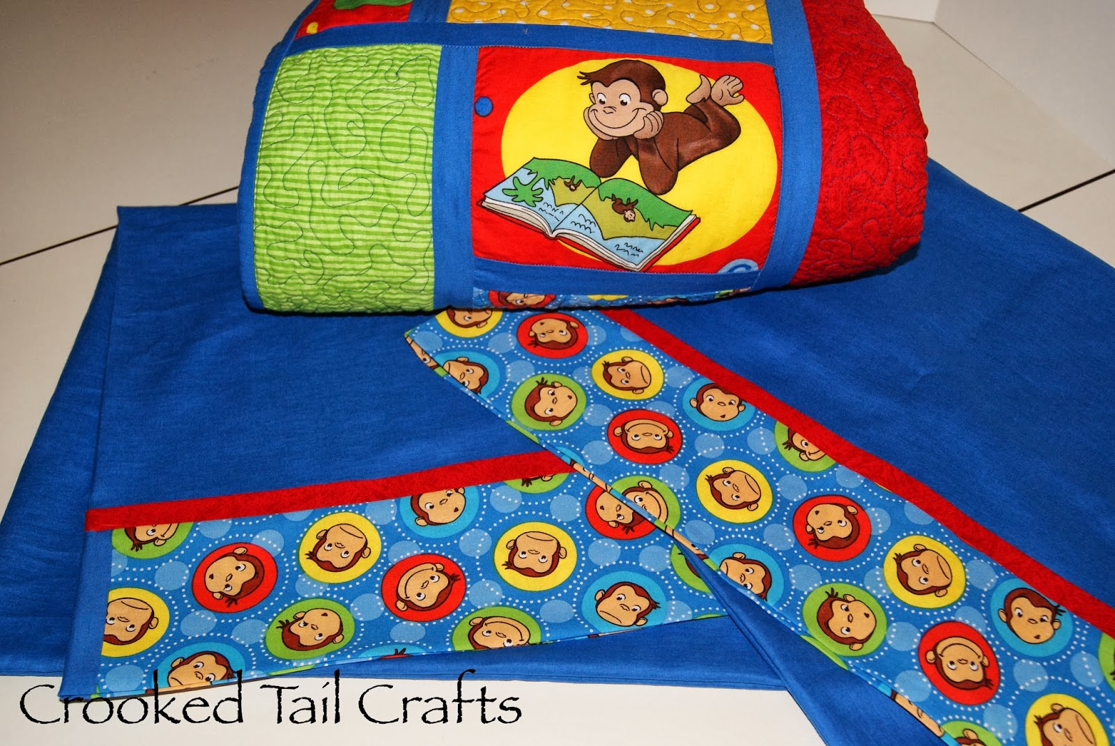 Crooked Tail Crafts Curious George Quilt
