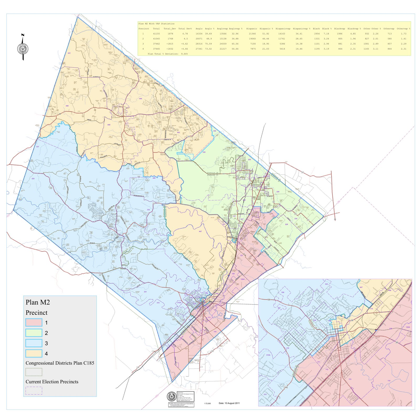 The Hays County RoundUp: New County Redistricting Map, M2