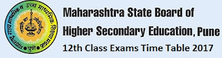 Maharashtra HSC 12th Class Exams Date Sheet 2017