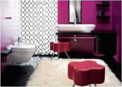 Deep Purple Bathroom Ideas