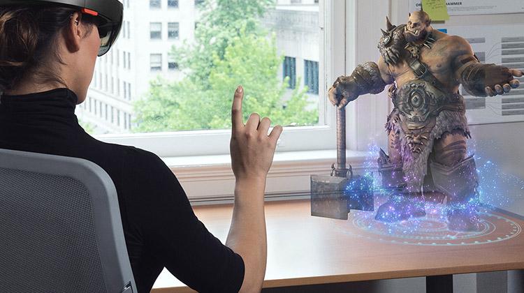 microsoft hololens virtual reality headset - latest technology