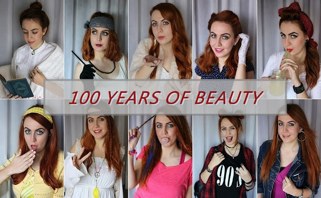 100 years of beauty, 100 godina ljepote, ivana mihalić ivy, evolution of beauty, 1910's, twenties, thirties, forties, fifties, sixties, seventies, eighties, nineties, 90's, 2000s, looks, style, balkan, youtube, croatia, hrvatska