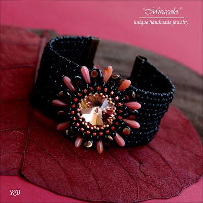 bransoletka z rivoli i daggerami, dagger beads bracelets