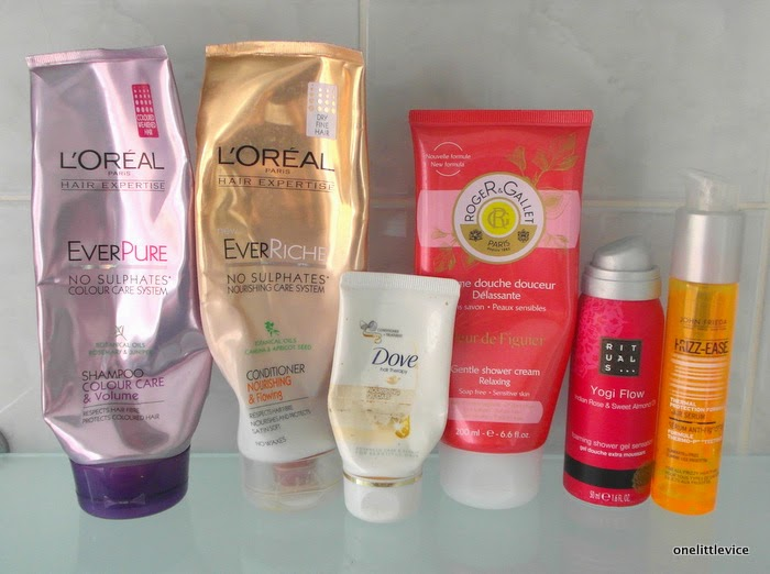 collected used beauty product