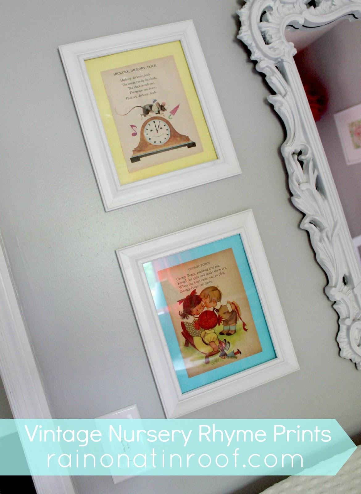 Diy Vintage Nursery Rhyme Prints