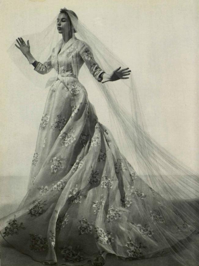Vintage 1950s Wedding Dress By Christian Dior Friday