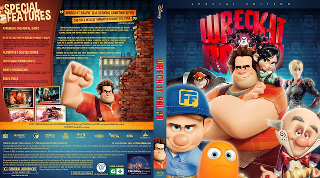 Wreck-It Ralph Bluray Cover