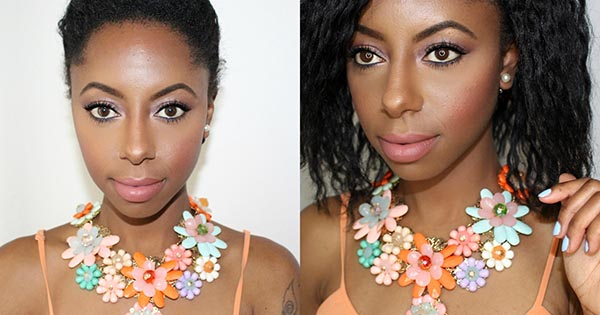 Blogger Jessica Pettway wearing jewelry from First Kiss Boutique