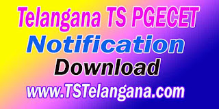 Telangana TS PGECET 2017 Notification Download