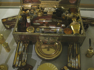 Travelling set belonging to Empress Marie Louise of France, the second wife of Napoleon
