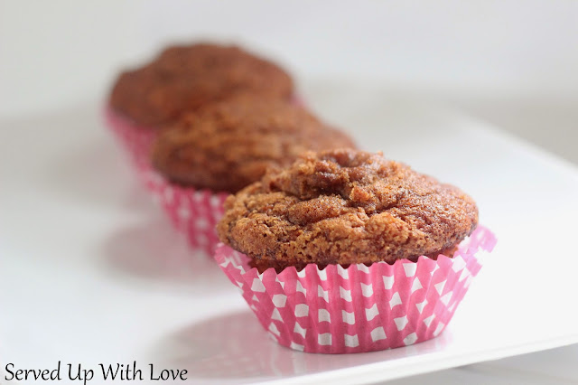 Banana Crumb Muffins recipe from Served Up With Love