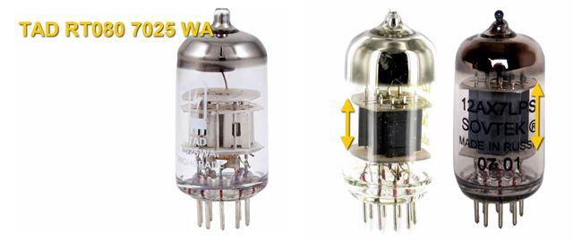 Tamaño de las Placas Internas de las Válvulas de Amplificador