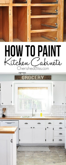 Painted kitchen cabinets, inexpensive updates