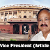 Kerala PSC - The Vice President (Article 63)