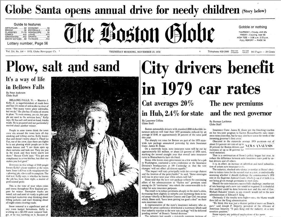 StevenWarRan Research: Front Pages Boston Globe, Nov  19
